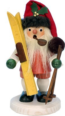 R�ucherm�nnchen Weihnachtsmann mit Ski