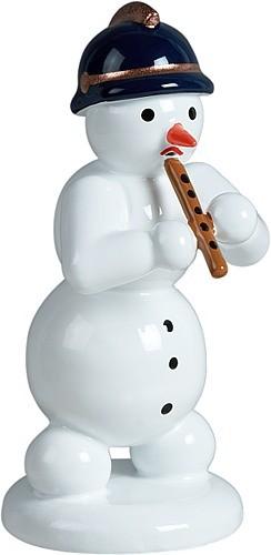 Schneemann mit Blockflöte