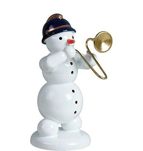 Schneemann mit Posaune