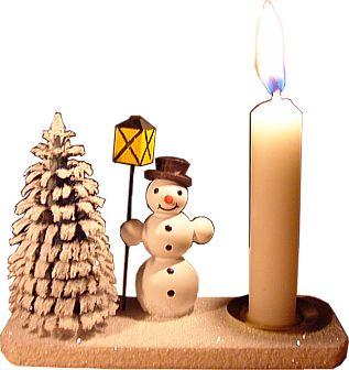 Kerzenhalter Schneemann mit Laterne