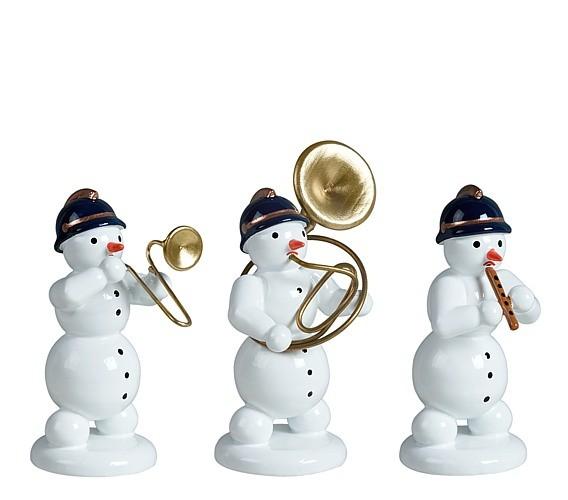Schneemannmusikanten 3-teilig
