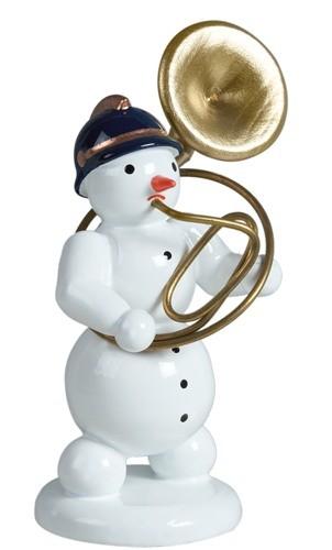 Schneemann mit Sousaphon