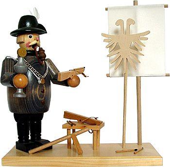 Räuchermann Schützenkönig mit Armbrust