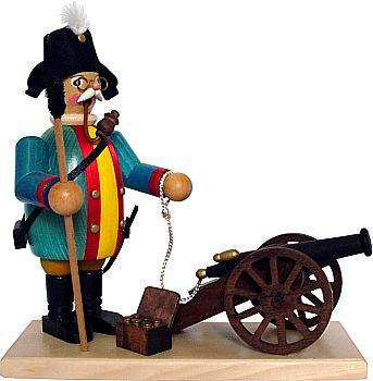 R�uchermann Kanonier mit Kanone