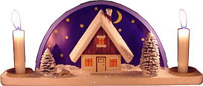 Schwibbogen, Haus im Schnee