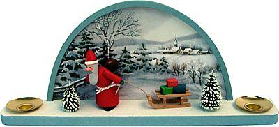 Schwibbogen Winter mit Weihnachtsmann