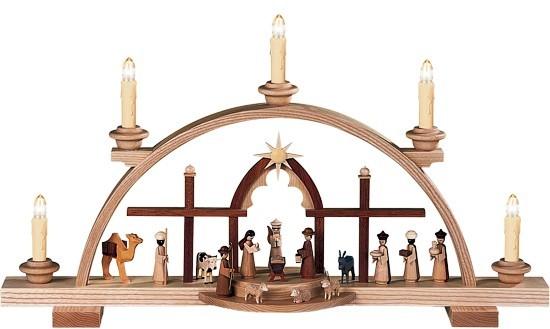 Schwibbogen Christi Geburt Sternenbogen