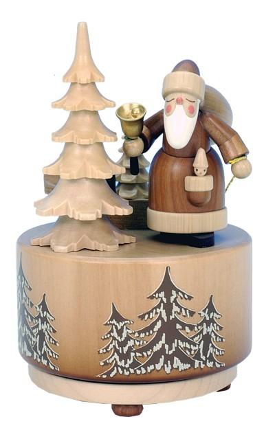 Spieldose Weihnachtsmann Natur