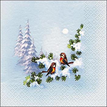 Servietten Winterbirds