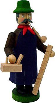 R�ucherm�nnchen Zimmermann / Tischler mit Sch�rze
