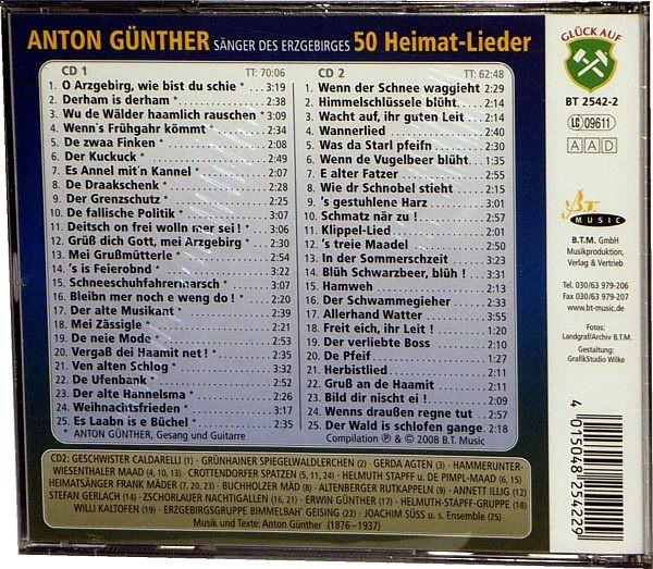 Anton G�nther, 50 Heimatlieder