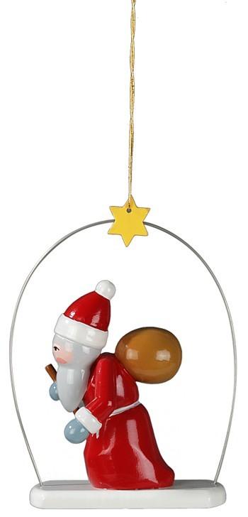 Baumbehang Weihnachtsmann im Ring 3 teilig