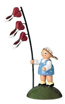 Blumenkind Mädchen mit Herzblume