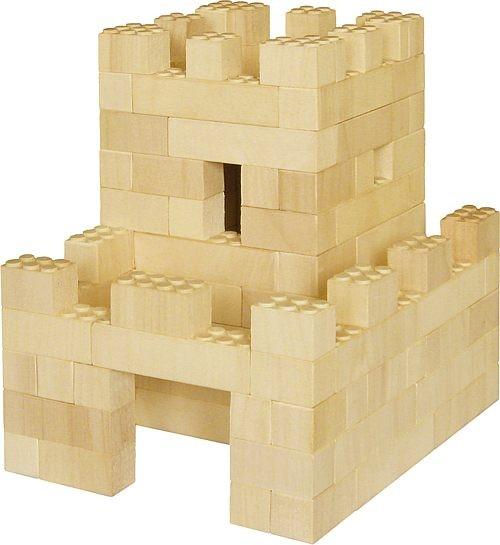 Bausatz für Burg Liebenstein<br> - der Holzbaustein mit dem Klick -