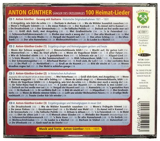 CD Anton Günther, 100 Heimatlieder