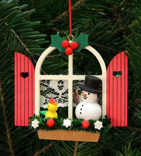 Baumbehang Adventsfenster mit Schneemann