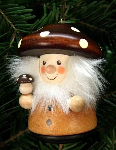 Baumbehang Weihnachtsmann Pilzm�nnle natur