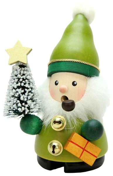 Räuchermännchen Weihnachtsmann grün