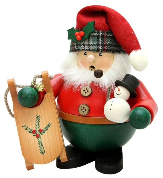 R�uchermann Weihnachtsmann mit Schlitten