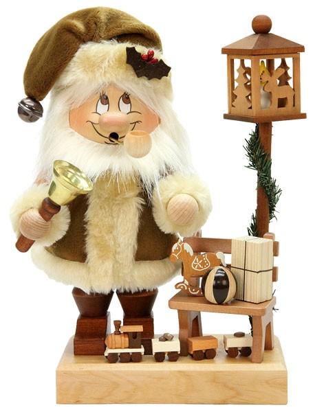 R�uchermann Wichtel Weihnachtsmann mit Bank