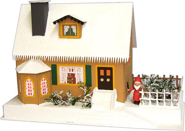 Haus mit Weihnachtsstube