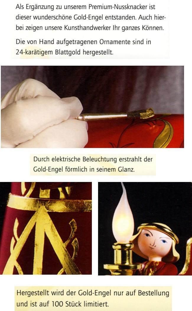 Engel mit elektrischer Beleuchtung -Gold Edition-