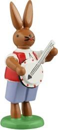 Hasenmusikant mit Banjo