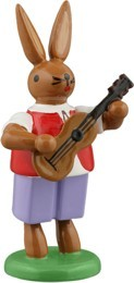 Hasenmusikant mit Gitarre