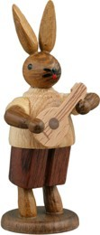 Hasenmusikant mit Mandoline / natur