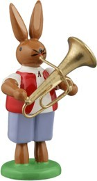 Hasenmusikant mit Tuba