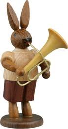 Hasenmusikant mit Tuba / natur