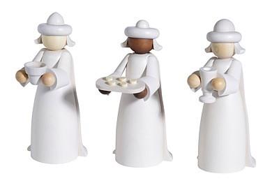 Heilige drei Könige, 3-tlg., weiß