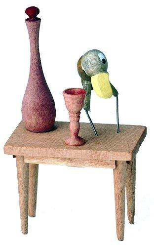 Holzfigur Hans Huckebein