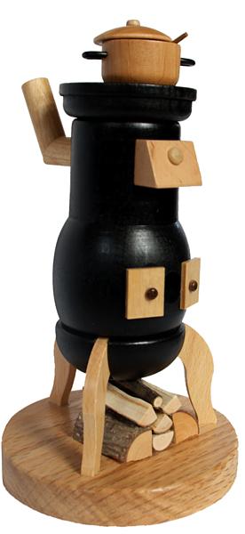 Hundsofen mit Sockel und Holz