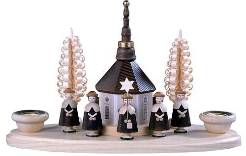 Kerzenhalter Seiffener Kirche und Kurrende