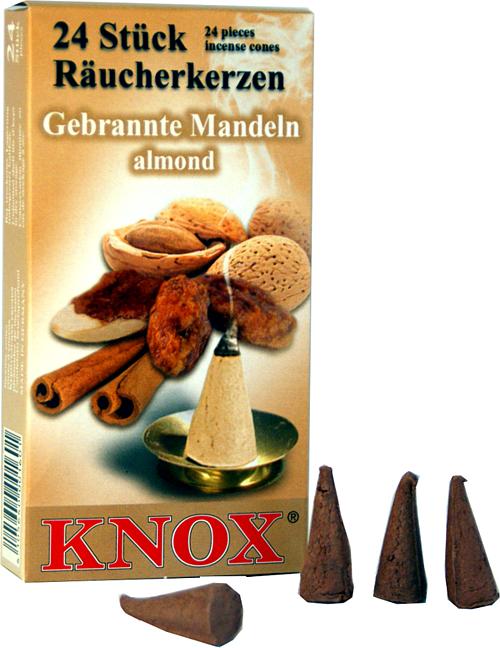 KNOX Räucherkerzen - gebrannte Mandeln