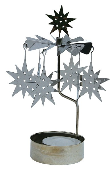 Lichtspiel Silber mit Teelicht - Stern