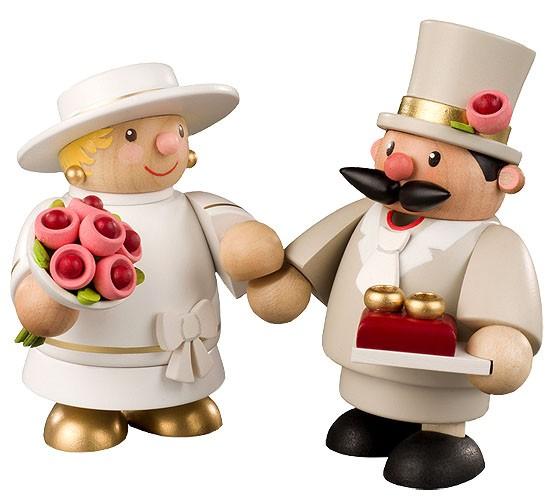 Räuchermann Braut und Bräutigam