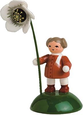 Blumenkind M�dchen mit Christrose