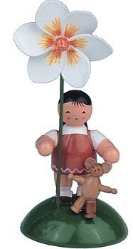 Blumenkind Mädchen mit Dahlie