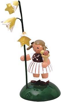 Blumenkind M�dchen mit Glockenblume