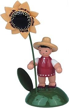 Blumenkind M�dchen mit Sonnenblume