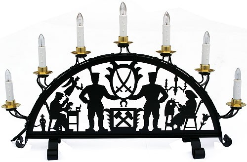 schwibbogen aus metall 7 flammig aus dem erzgebirge. Black Bedroom Furniture Sets. Home Design Ideas