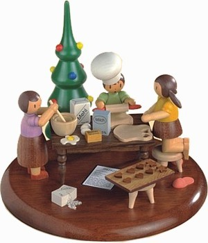 Motivplattform f�r elektronische Spieldose -In der Weihnachtsb�ckerei-