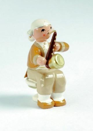 Mozart Orchester Musiker mit Bassethorn