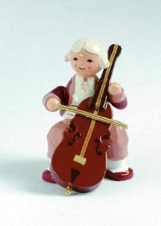 Mozart Orchester Musiker mit Violoncello