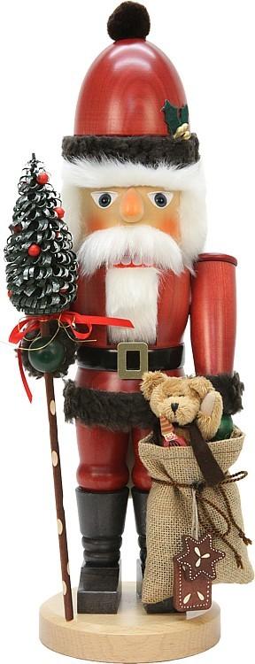 Nußknacker Weihnachtsmann mit Teddy