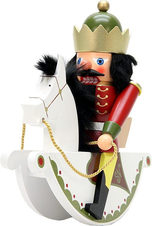 Nußknacker Reiterlein König rot