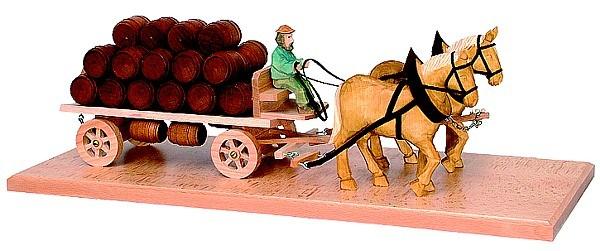 Pferdegespann mit Bierwagen