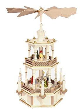 WeihnachtsPyramide Geburt mit neuer aufwendiger Farbgebung